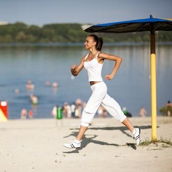 Treinamento de mulher esporte