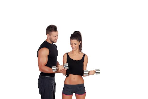 Treinando com meu personal trainer