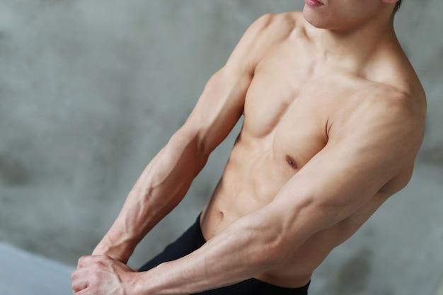 Treino de fitness de homem