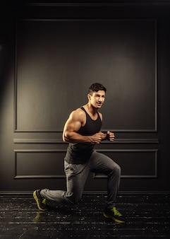 Treino de fitness jovem