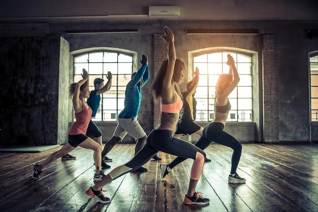 Treino em uma academia de ginástica