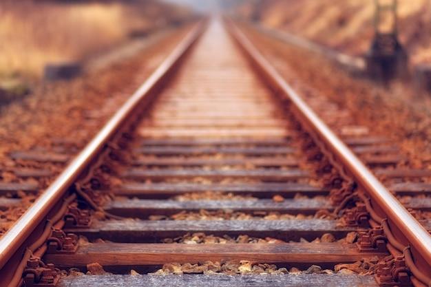 Trem ferroviário marrom