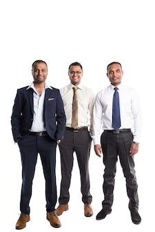 Três, bonito, americano africano, homens negócios