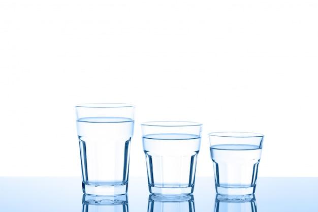 Três copos de água