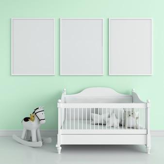 Três, em branco, frame foto
