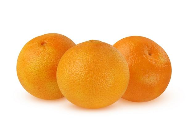 Três, tangerines, isolado