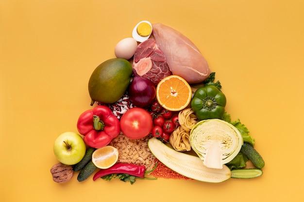 Triângulo de comida deliciosa