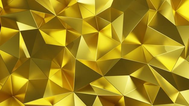 Triângulo de poli baixo luxo abstrato de cor ouro