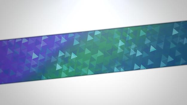 Triângulos azuis e verdes, fundo abstrato. estilo geométrico dinâmico elegante e luxuoso para negócios, ilustração 3d