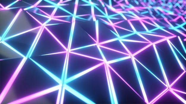 Triângulos de luz geométrica poli movimento de fundo