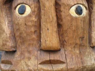 Tribais de madeira escultura