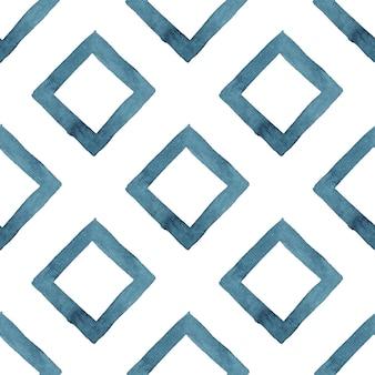 Tribal geométrico abstrato azul sem costura padrão