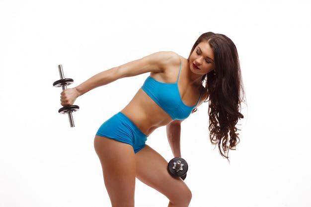 Tríceps mulher fazendo