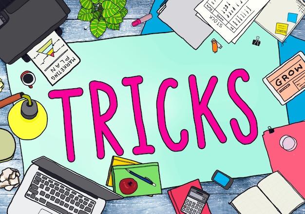 Trick treat risk esconder player magic halloween concept