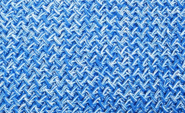 Tricô de lã azul