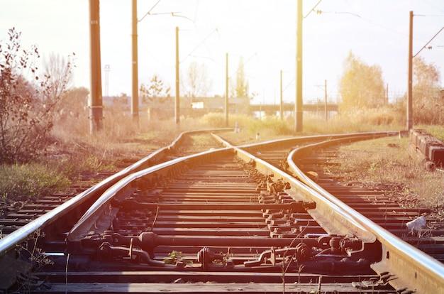 Trilha de ferrovia vazia