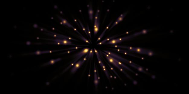 Trilhas de luz em movimento rápido zoom explosão de luz ilustração 3d