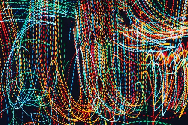 Trilhas de luz neon