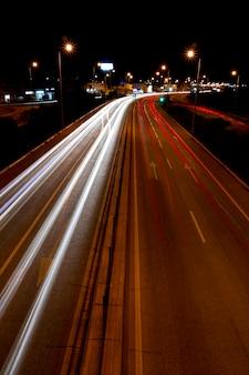 Trilhas de tráfego de luz