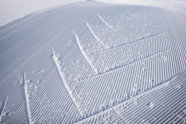 Trilhas, em, a, neve, ligado, um, preparado, rastro, em, refúgio esqui, sol, refúgio esqui, parque nacional banff, alber