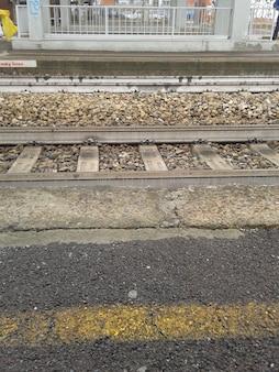 Trilhos ferroviários para o transporte ferroviário público