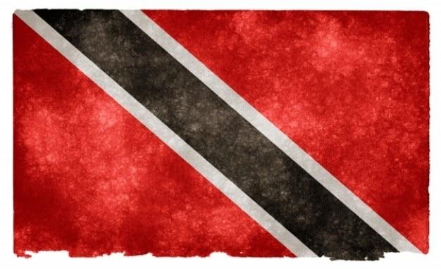 Trinidad e tobago grunge bandeira