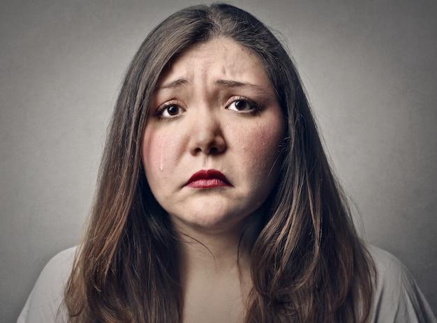 Triste mulher decepcionada