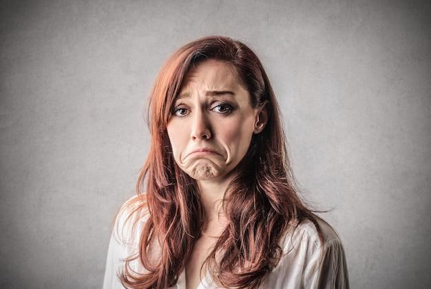 Triste mulher infeliz