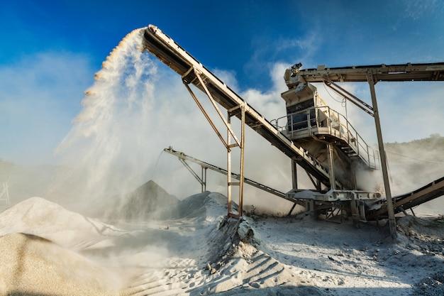 Triturador industrial - máquina de trituração de pedra de rocha