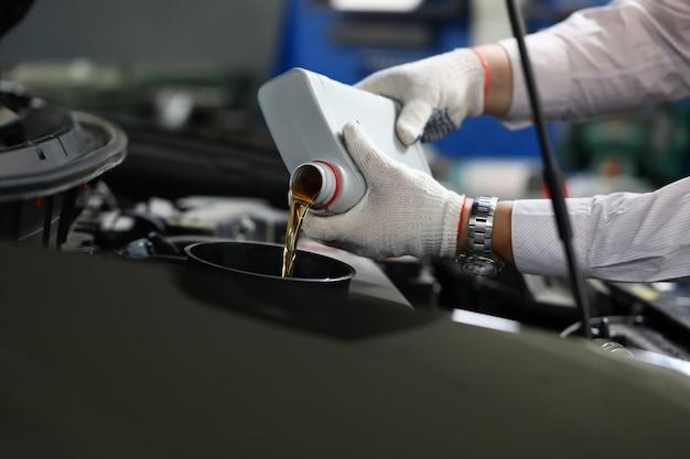 Troca de óleo de precisão