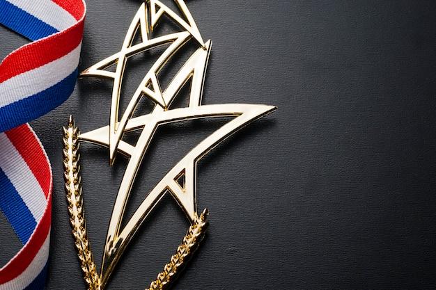 Troféu de campeonato de ouro