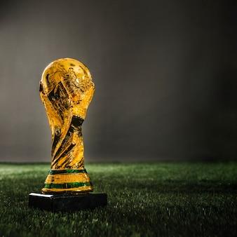 Troféu de copa de ouro de futebol