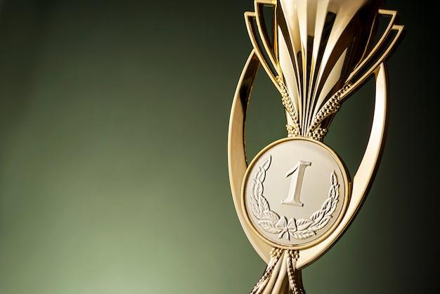 Troféu de ouro vencedores primeiro colocado campeonato