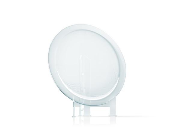 Troféu de prato de vidro redondo em branco