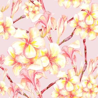 Tropical padrão sem emenda com flores exóticas