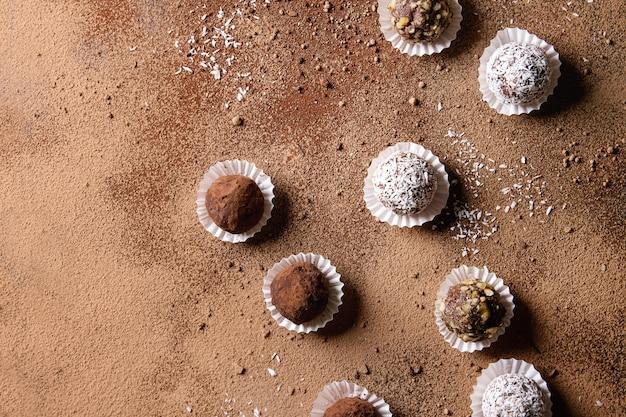 Trufas de chocolate artesanais