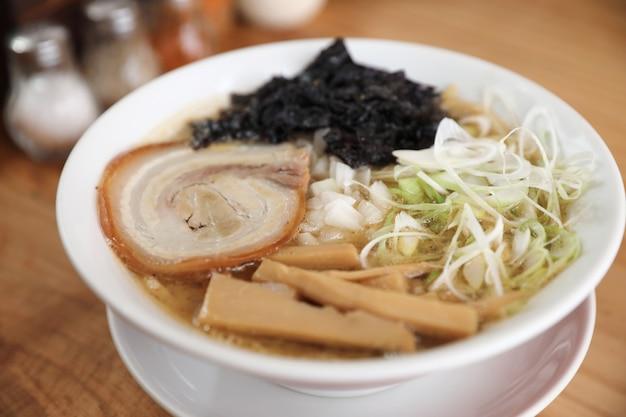 Tsukemen ramen sopa de macarrão japonês comida japonesa