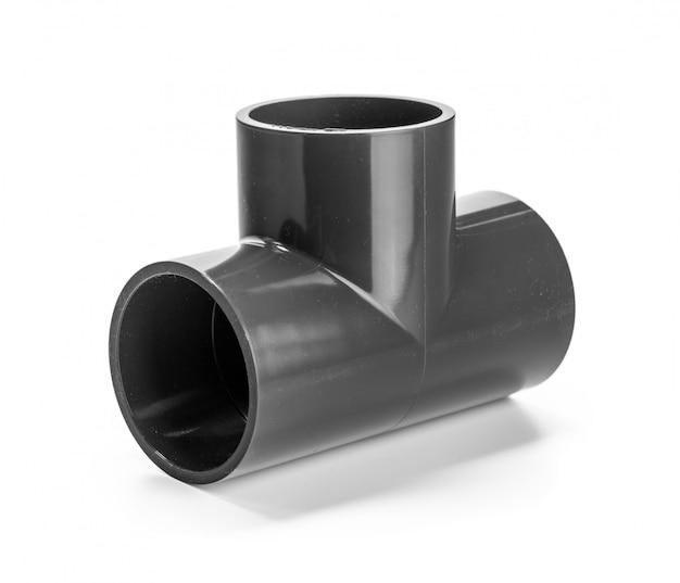 Tubo de canalizador para água isolado no branco