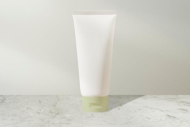 Tubo de creme facial branco, produto de beleza sem rótulo
