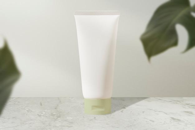Tubo de creme facial branco, produto de beleza