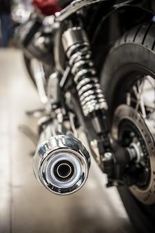 Tubo de escape da motocicleta