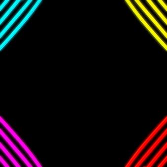 Tubo de faixa de cor de néon no canto do pano de fundo