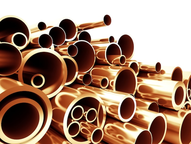 Tubo de metal cobre