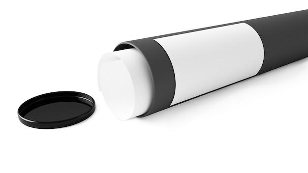 Tubo de papelão cinza