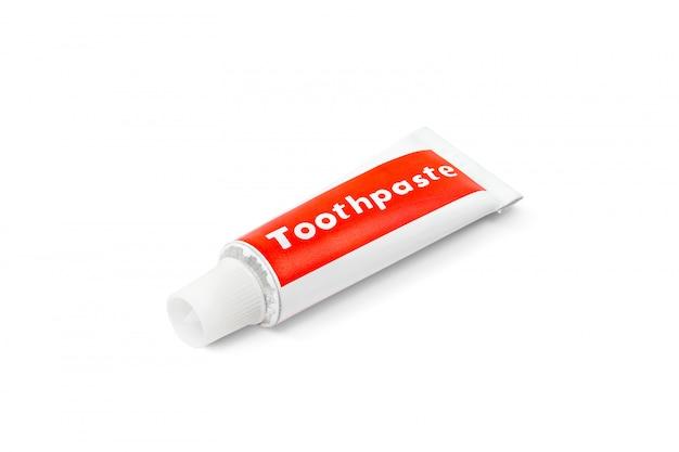 Tubo de pasta de dentes isolado