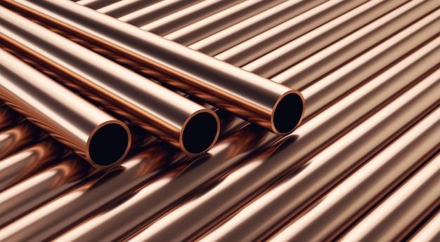 Tubos de cobre. tubos industriais.