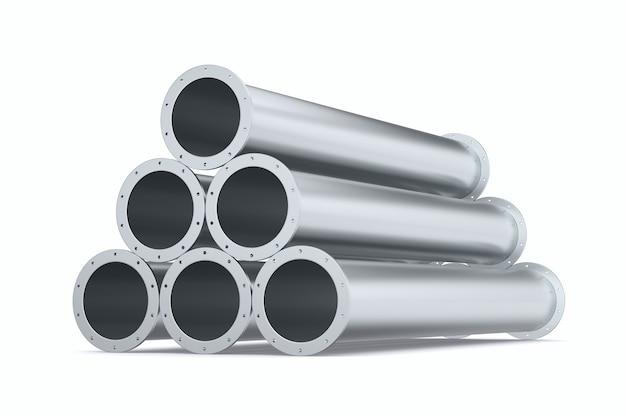 Tubos em fundo branco. ilustração 3d isolada