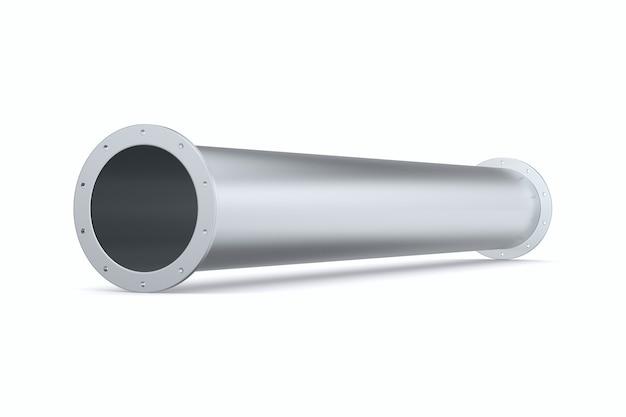 Tubulação em fundo branco. ilustração 3d isolada
