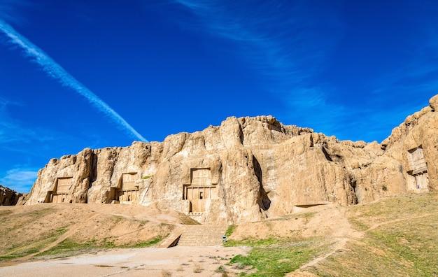 Tumbas antigas dos reis aquemênidas em naqsh-e rustam, no norte de shiraz, irã.