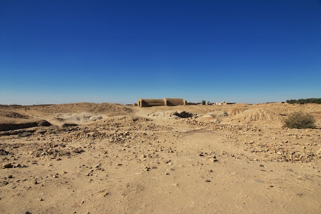Túmulo do antigo faraó em el kurru, sudão